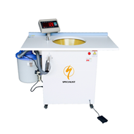Semi automatic down & fiber weighing and filling machine
